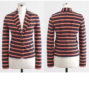 J. Crew stripe blazer jacket coat sweater top